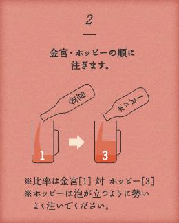 金宮×ホッピー 美味しい飲み方2