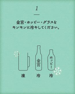 金宮×ホッピー 美味しい飲み方1